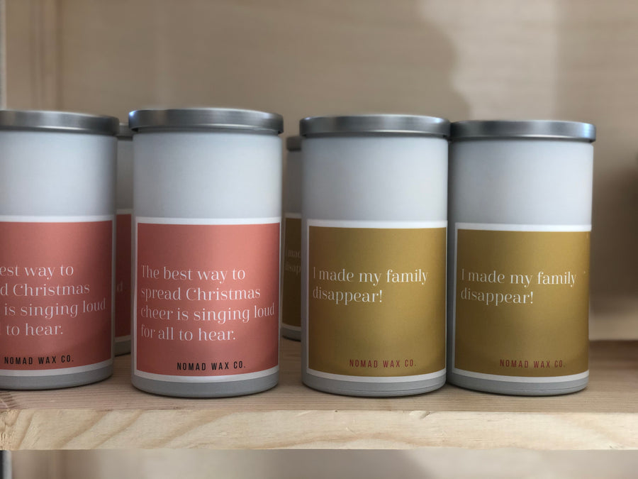 Holiday Movie Quotes L Vegan Scented Soy Candle