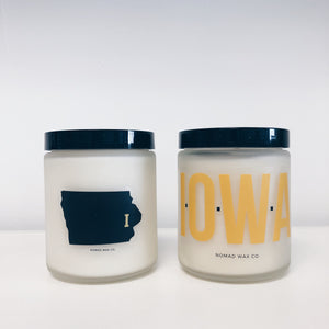 Iowa Hawkeye Vegan Scented Soy Candle