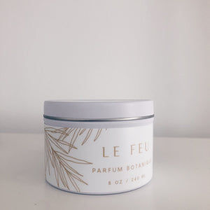 Le Feu Collection 6 oz Medium Tin Candle Gift Set