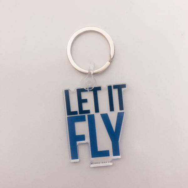 Let It Fly Creighton Gameday Keychain