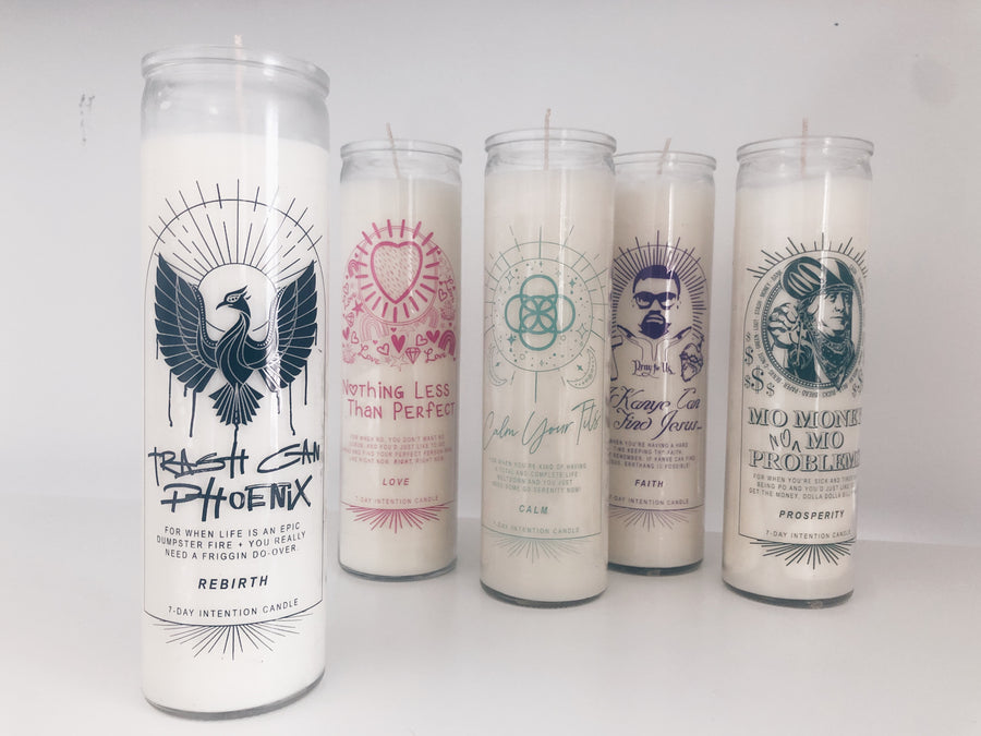 Rebirth  Intention + Prayer Candle