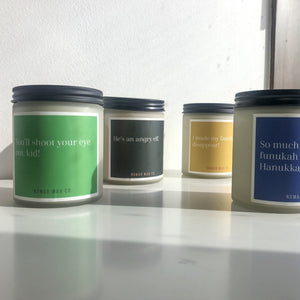 Holiday Movie Quotes XL Vegan Scented Soy Candle
