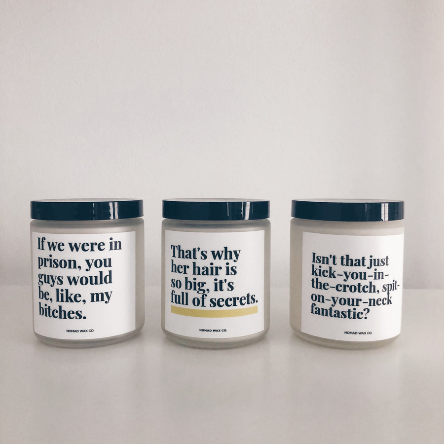 Friends TV Series Quotes Vegan Scented Soy Candle