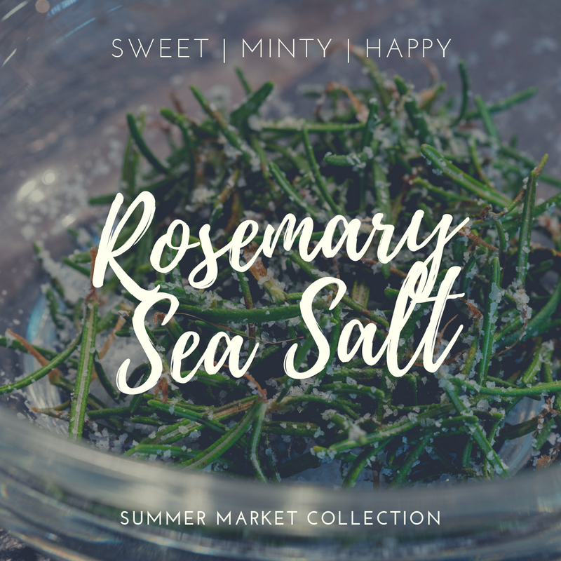 Rosemary Sea Salt Scented Soy Candle