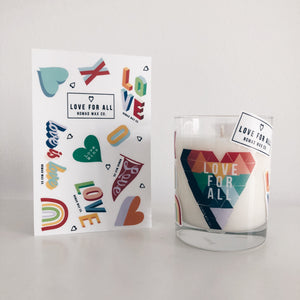 Love For All - 13 oz - Rocks Tumbler Vegan Scented Soy Candle