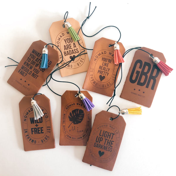 Reusable Leather Air Freshener - Light Up The Darkness