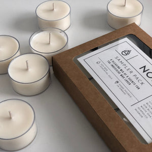 Sampler Pack - Rescue Kit for Indecisive Individuals Set of 6 Tealight Candle Scents
