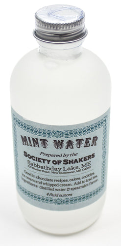 Shaker Mint Water - Sabbathday Lake Shakers