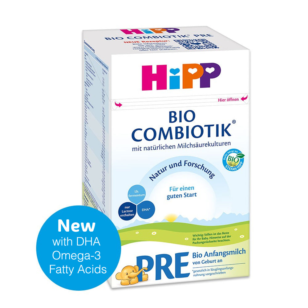 HiPP Stage PRE Organic (Bio) Combiotic Infant Milk Formula (600g) - German Version 1 BOX