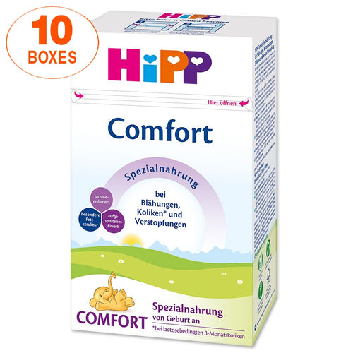 HiPP Comfort Infant Formula Milk (500g) – German Version 10 BOXES