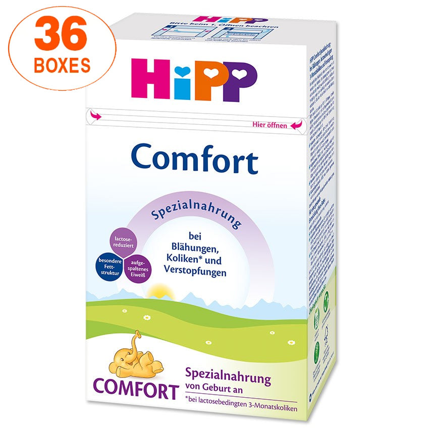 HiPP Comfort Infant Formula Milk (500g) – German Version 36 BOXES