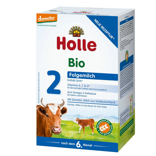 Holle Cow Stage 2 Organic (Bio) Follow-on Infant Milk Formula (600g), 1 Box
