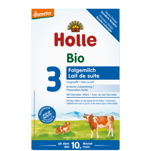 Holle Cow Stage 3 Organic (Bio) Baby Milk Formula (600g), 1 Box