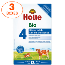 Load image into Gallery viewer, Holle Cow Stage 4 Organic (Bio) Toddler Milk Formula (600g), 3 Boxes