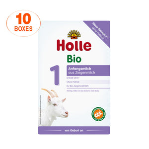 Holle Goat Stage 1 Organic (Bio) Infant Milk Formula (400g), 10 Boxes