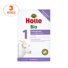 Load image into Gallery viewer, Holle Goat Stage 1 Organic (Bio) Infant Milk Formula (400g), 3 Boxes