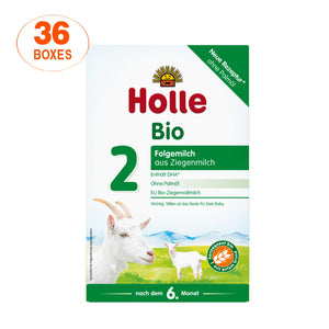 Holle Goat Stage 2 Organic (Bio) Follow-on Infant Milk Formula (400g), 36 Boxes