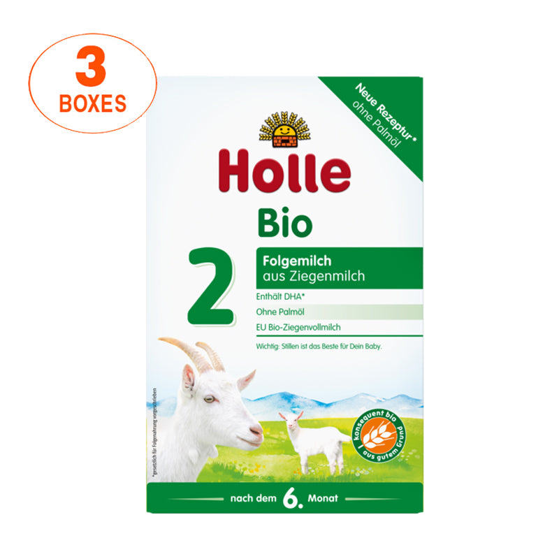Holle Goat Stage 2 Organic (Bio) Follow-on Infant Milk Formula (400g), 3 Boxes