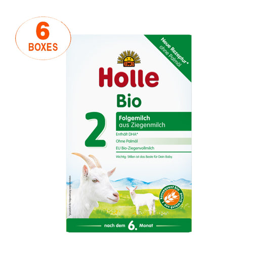 Holle Goat Stage 2 Organic (Bio) Follow-on Infant Milk Formula (400g), 6 Boxes