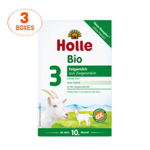 Load image into Gallery viewer, Holle Goat Stage 3 Organic (Bio) Baby Milk Formula (400g), 3 Boxes