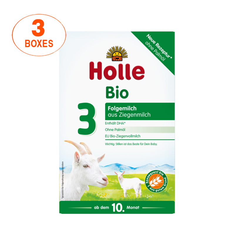 Holle Goat Stage 3 Organic (Bio) Baby Milk Formula (400g), 3 Boxes
