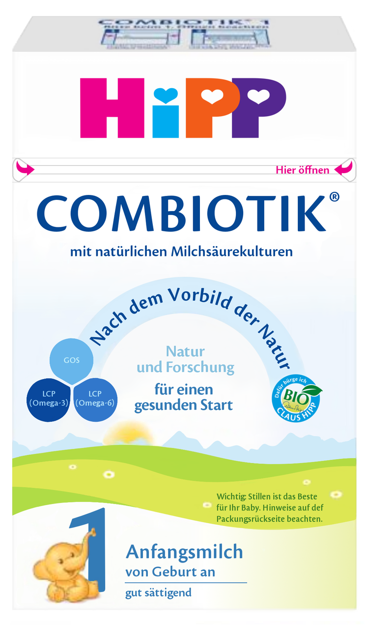 HiPP Stage 1 Organic (Bio) Combiotic Infant Milk Formula (600g) - German Version 1 BOX