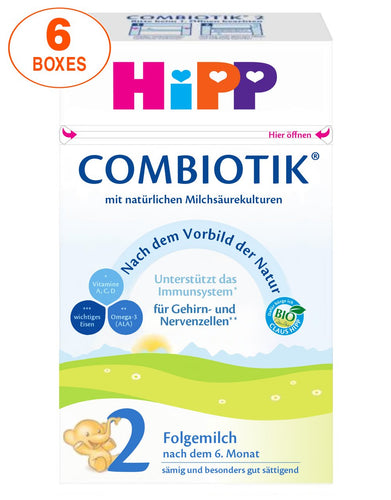 HiPP Stage 2 Organic (Bio) Combiotic Infant Milk Formula (600g) - German Version 6 BOXES