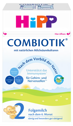 HiPP Stage 2 Organic (Bio) Combiotic Infant Milk Formula (600g) - German Version 1 BOXES
