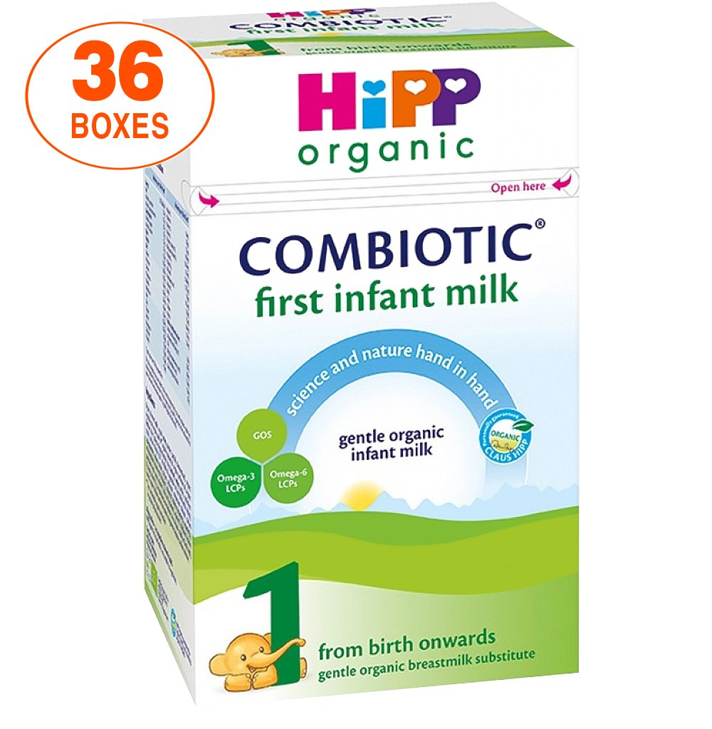 HiPP Stage 1 Combiotic First Infant Milk Formula (800g) - UK Version, 36 Boxes