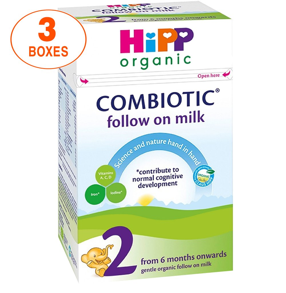 HiPP Stage 2 Combiotic Follow-on Infant Milk Formula (800g) - UK Version, 3 Boxes