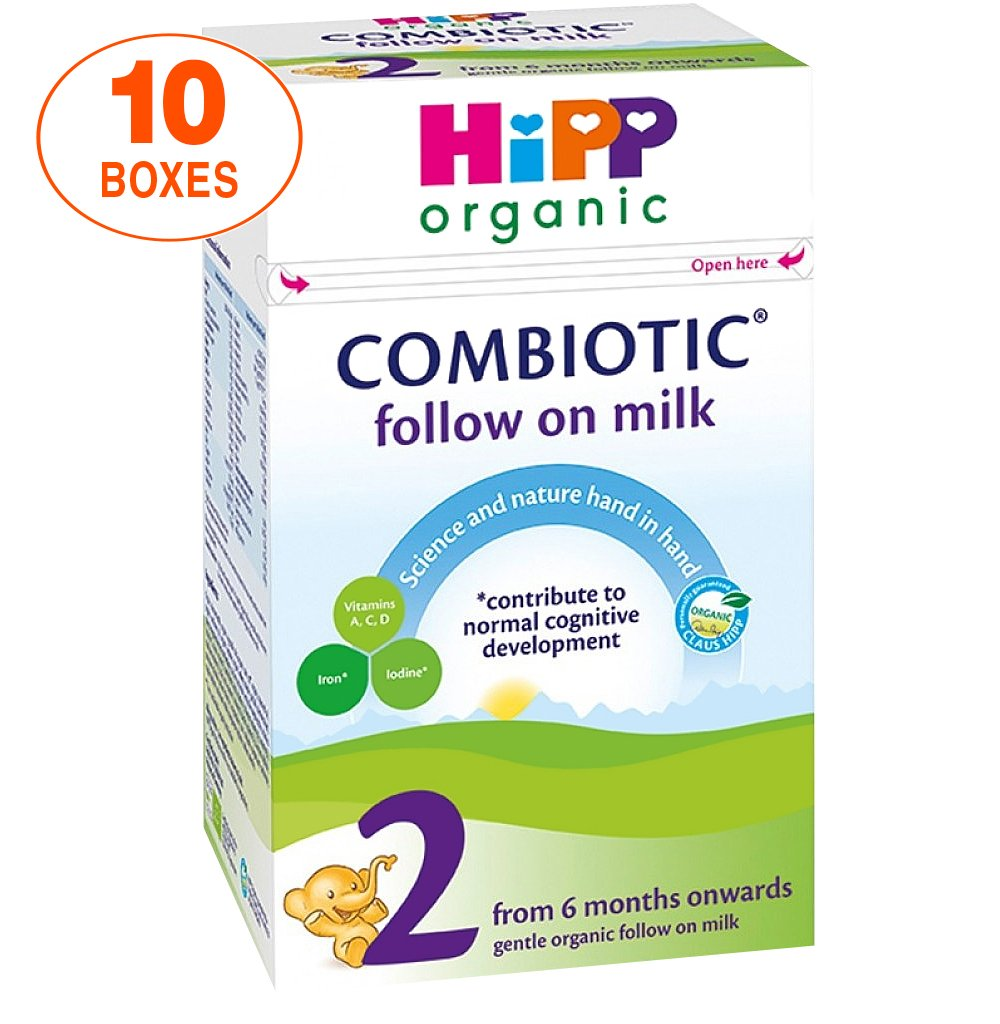 HiPP Stage 2 Combiotic Follow-on Infant Milk Formula (800g) - UK Version, 10 Boxes