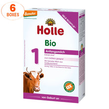 Load image into Gallery viewer, Holle Cow Stage 1 Organic (Bio) Infant Milk Formula (400g), 6 Boxes