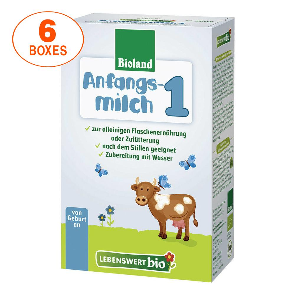 Lebenswert Stage 1 Organic (Bio) Infant Milk Formula (500g), 6 BOXES