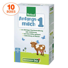 Load image into Gallery viewer, Lebenswert Stage 1 Organic (Bio) Infant Milk Formula (500g), 10 BOXES