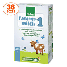 Load image into Gallery viewer, Lebenswert Stage 1 Organic (Bio) Infant Milk Formula (500g), 36 BOXES