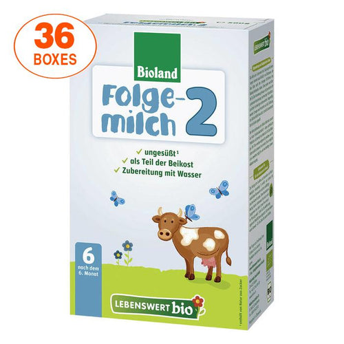 Lebenswert Stage 2 Organic (Bio) Infant Milk Formula (500g), 36 BOXES