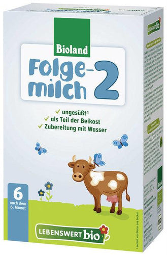 Lebenswert Stage 2 Organic (Bio) Infant Milk Formula (500g), 1 BOX