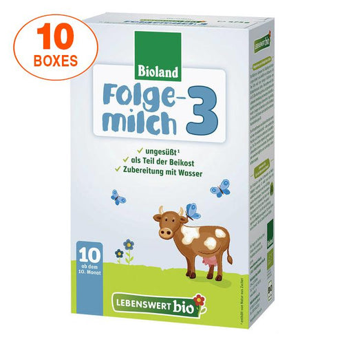 Lebenswert Stage 3 Organic (Bio) Infant Milk Formula (475g), 10 BOXES