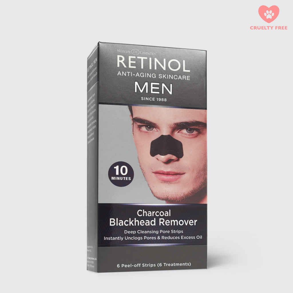 Retinol Mens Charcoal Peel Off Nose Strips - FranWilson