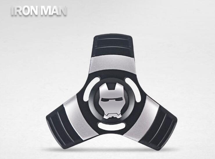 Avengers SuperHero Iron Man Captain America Spiderman alloy Finger Spinner Fidget For AutismADHD Anxiety Stress Relief Focus EDC Hand Spinner Wholesale China Supplier