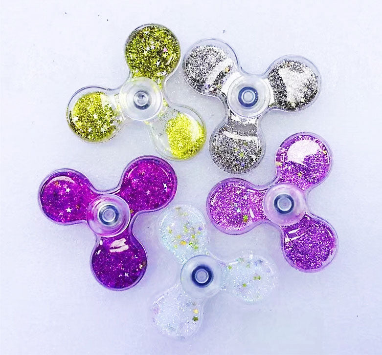 New Transparent Colorful Liquid Sparkle Gell Spinners Fidget Toy Hand Spinner For Autism Rotation Time Long Anti Stress Toys Cheap China Bulk Shipping
