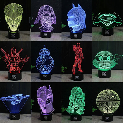 China Wholesale OEM 3D illusion Lamp