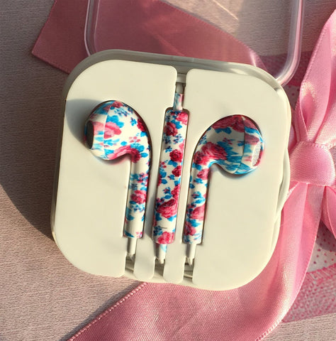 Image of unique new fancy hand printed for iPhone earphones earbuds