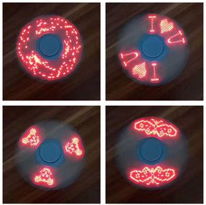 Bulk China Finger LED Light Display Spinner Fidget Spinner  ABS EDC Stress Wheel Hand Spinner For Kids Autism ADHD Anxiety Stress Relief Focus toys Wholesale Supplier