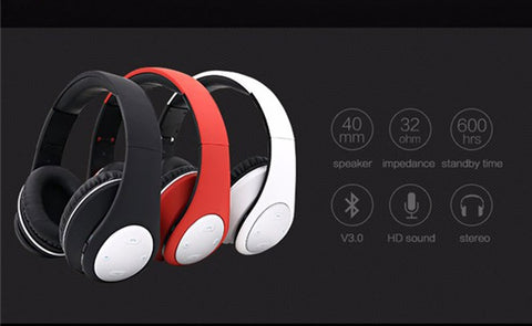 Image of Wholesale price BT-990 Headband Bluetooth Wireless Headphone Stereo Foldable Adjustable Length Voice Prompt