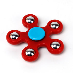 Colorful Fidget Hand Spinner with 5 ends Metal Balls ( High QUaliy Bearings) More spin time