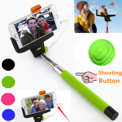 Image of Wholesale z07-5s Wired selfie stick with aux cable for smartphone