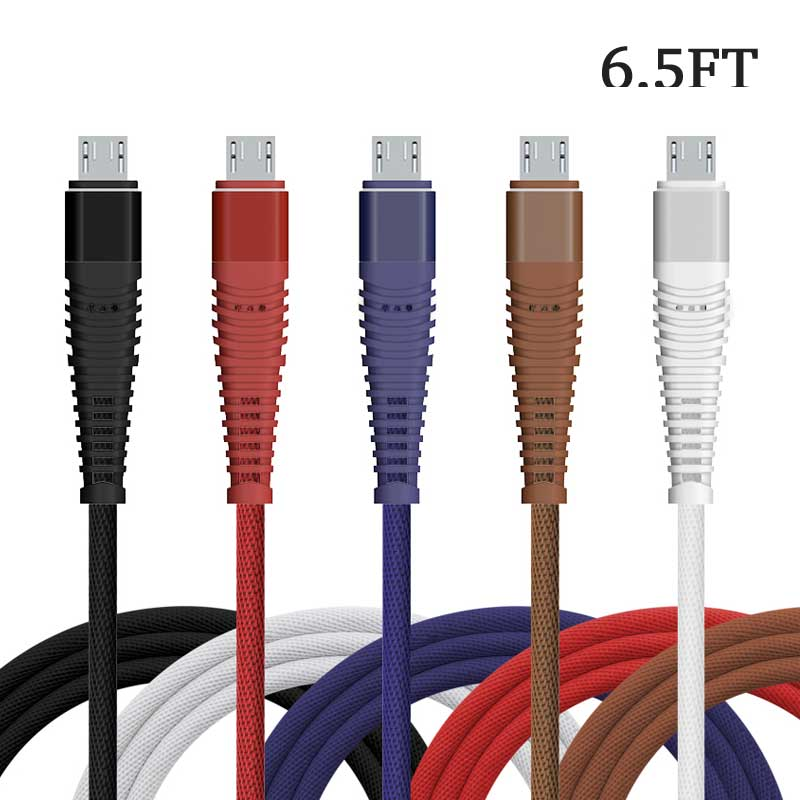 6ft Mermaid Braided Mesh Cable fast Charging for iPhone iPad Android Micro V8 Type C