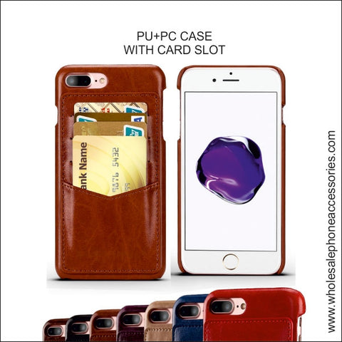 Image of Wholesale China Factory Supplier PU+PC CASE WITH CARD SLOT Cheap Price usa Distributor