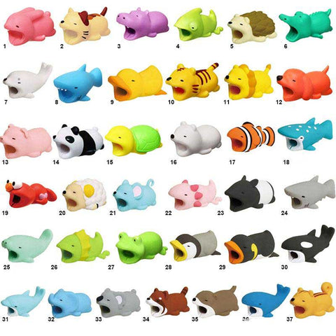 Image of iPhone Android CABLE BITE cute animals cable protectors